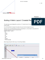 4. Bulding a Matrix Layout Crosstab Report