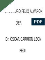 Nombres de Tablero de Medicos