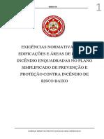 Anexo M Exigências Normativas Para PSPCI Risco Baixo