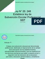 Presentación Ley SEP 2015