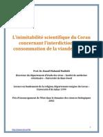 L'inimitabilité scientifique du Coran concernant l'interdiction de la consommation de la viande de porc