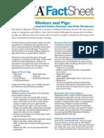 Influenza Workers Pigs Factsheet