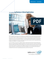 Virtualizing Business Critical Applications