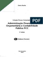 Denis Rocha - Administração Financeira e Orçamentária e Contabilidade Pública FCC - 2º Edição - Ano 2010