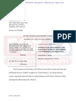Motion by LDS Church to quash subpoena