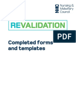 Completed Revalidation Forms and Templates