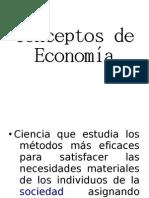 3 Conceptos de Economía