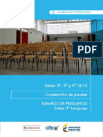 Cuadernillo LENGUAJE 3° 2013vf