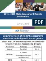 SBAC 2016 Results Presentation to SBOE