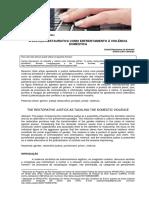 ANDRADE; CAMARGO. a Justiça Restaurativa Como Enfrentamento à Violência Doméstica