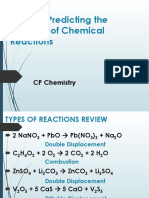 Steps to Predicting the Products of Chemical Reactions