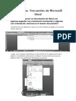Problemas Frecuentes de Microsoft Word