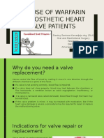 The Use of Warfarin in Prosthetic Heart Valves Patient Short Version