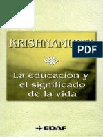 La Educacion y El Significado de La Vida