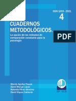 Cuaderno 4. La opción de los métodos de comparación constante para la psicología.