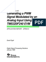 Generation a Pwm Signal Modulated by an Analog Input