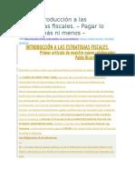 Breve Introducción a Las Estrategias Fiscales I
