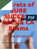 Secrets of Sure Success in Cs & CA Exams