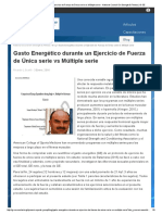 Gasto Energético Durante Un Ejercicio de Fuerza de Única Serie vs Múltiple Serie - National Council on Strength & Fitness _ G-SE