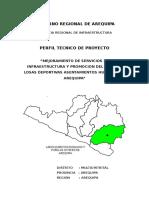 Perfil de Losa Deportiva