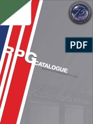 2010 - 2011 Radio Parts Group Catalogue | Set Top Box | Websites Jbl Amplifier Wiring Diagram Mr on