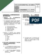 Examen Bimestral 2 - Saco Oliveros - 3er Año - Belisario - Julio 2016