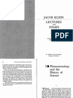 Klein, Phen. of History