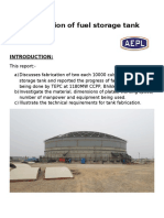 Fabrication of Fuel Storage Tank