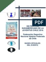 Bases Sudamericano Ajedrez Juventud-2016