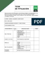 Ficha Proceso de Titulación