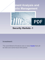 Security Markets -1