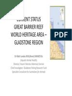 Status Great Barrier Reef  World Heritage Area - Gladstone Region post-dredging
