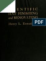 (1919) Scientific Hat Finishing & Renovating