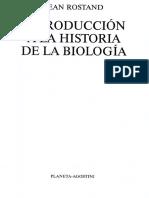 Rostand, Jean - Introducción a La Historia de La Biología