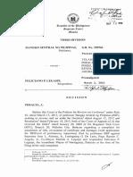 BSP vs Feliciano Legaspi
