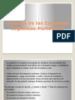 Función de Las Empresas Logísticas Portuarias