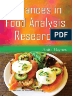 (Food Science and Technology) Haynes, Anita-Advances in Food Analysis Research-Nova Science Publishers (2015)