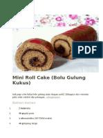 Mini Roll Cake