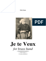 Je Te Veux (I want You) for Brass Band