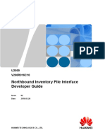U2000 Northbound Inventory File Interface Developer Guide