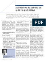 Sistemas Automaticos de Cambio de Ancho de via en Espana