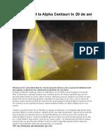 De La Pamant La Alfa Centauri in 20 Ani