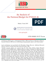 Centre for Policy Dialogue CPD Analysis National Budget FY2015 16 June 2015