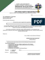Comelec Party Registration