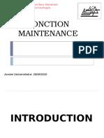 Fonction Maintenance