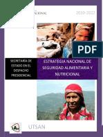 Estrategia Nacional San Honduras 2012 2022