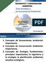 Area Temática 1. Concepto de Saneamiento Ambiental