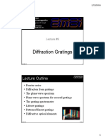 Lecture 9 -- Diffraction Gratings