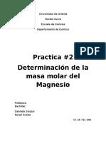 informe laboratorio. Determinacion de masa molar de magnesio.docx