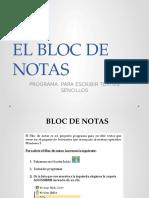El Bloc de Notas